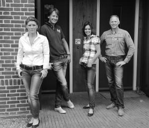 Het team: Astrid, Olaf, Jennifer en Niels.